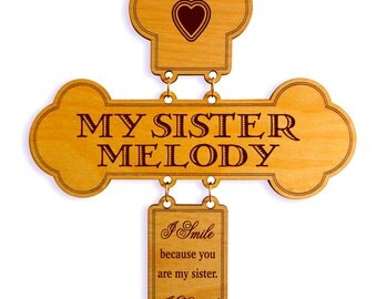 Sister to Sister Valentines Gift,Custom Gift to my Sister,Sisters Cross,Sister Birthday Gift,Season Brother to Sister Gift,Appreciation Gift