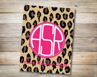 Cheetah Print Binder Cover