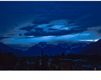 Storm over Banff Canada