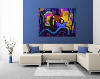 Flagrant: abstract painting for 375 dollars CAD