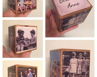 Photo Cube / Photo Block - Birthday Gift / Photo Gift Idea / wooden photo block / photo keepsake / wooden block / handmade gift / photo gift