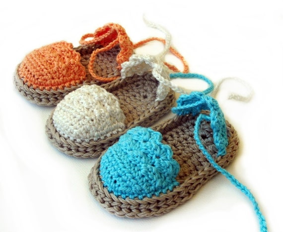 Crochet Pattern Baby Espadrille, Baby Sandals , Baby ...