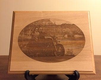 Laser Engraved Photograph Alder Wood Plaque! Customized Gift Idea!!