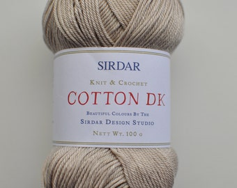 Sirdar DK 100% Cotton Yarn, #504 light taupe.