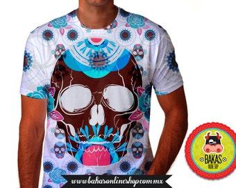 t-shirt mens/T-Shirt/tshirt/skull t shirt/skull tshirt/cráneo t shirt/sugar skull/dia de los muertos/day of the dead skull/clothing mens/