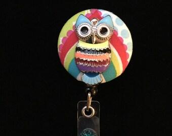 Wise Rainbow Owl -Nurse Retractable ID Badge Reel/ RN Badge Holder/Doctor Badge Reel/Nurse Badge Holder/Nursing Student Gifts