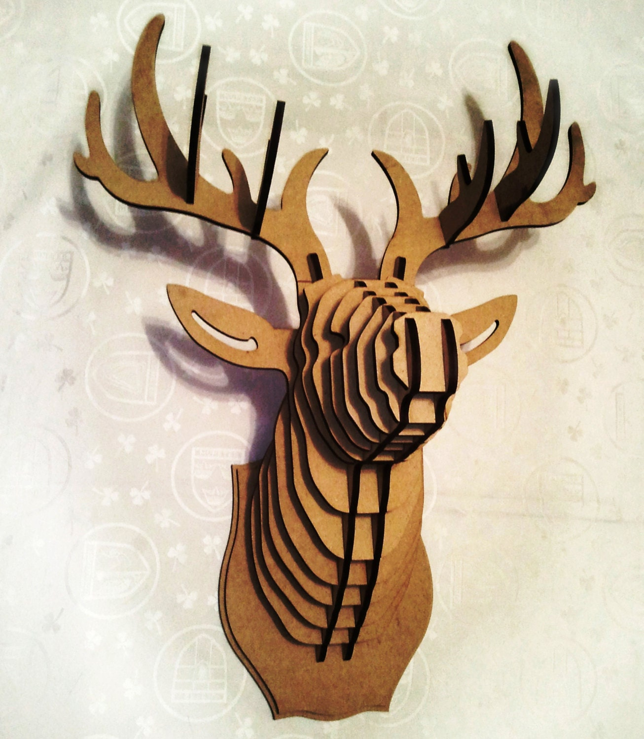 Deer Head 3d Puzzle Animal Head Cardboard Animal Head Mdf Deer