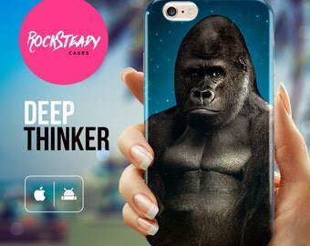 Gorilla iPhone 6s case, iPhone 7 Plus case, iPhone 6, SE Case, iPhone 5s Case, samsung galaxy s6, s7, s5 cover, 5C case, gorilla gift,