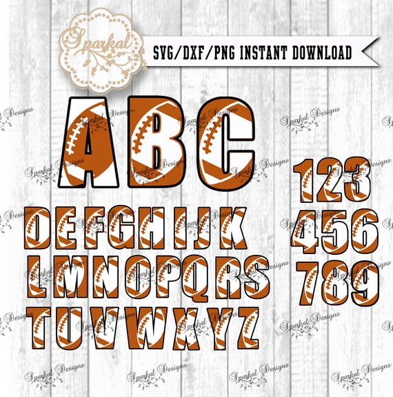 Football Letters Amp Numbers Svg Dxf Digital Cut Files