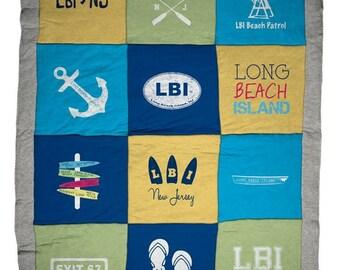 Long Beach Island LBI Destination Blanket