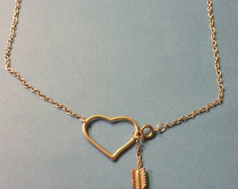 18in Heart and arrow necklace