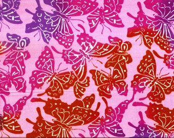 AE Nathan Co. Butterfly pink, purple, orange This fabric is 100% cotton....21