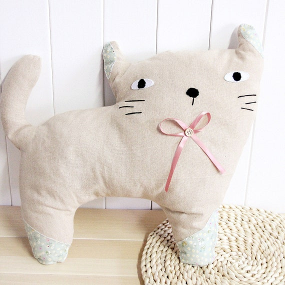 Cute Pillow Sewing Patterns : Cute Cat Pillow Sewing kitscat pillow case include Pattern