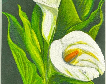 cala Flower,Cala Flowers triptychCalla Lily Painting, Cala Lily Watercolor Art Print, Flower Art Print , Watercolor Print