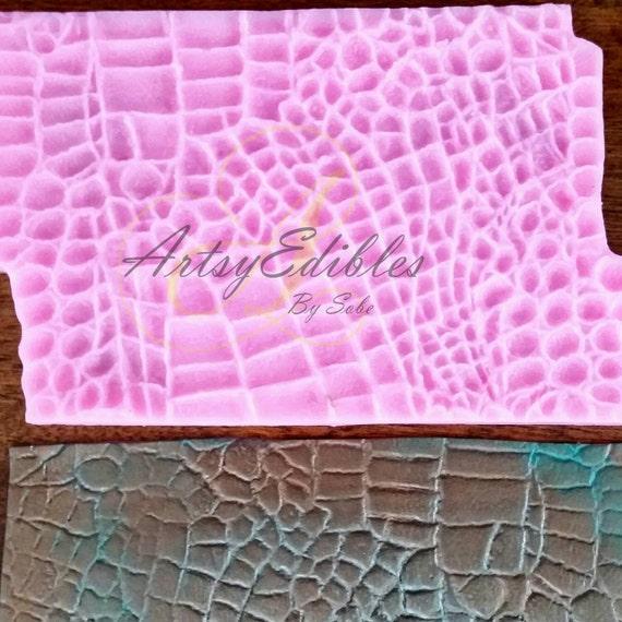 Crocodile Alligator Skin Texture Impression Mat From