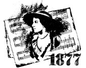 EZ Mounted Rubber Stamp Victorian 1877 Woman Background Sheet of Music Altered Art Craft Scrapbooking Cardmaking Collage Supply.