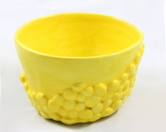 Yellow Lumpy Ceramic Pot