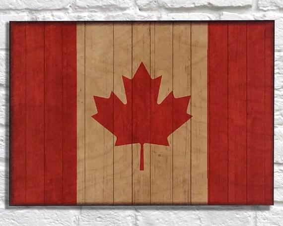 Wood Art Wood Wall Art Rustic Wood Print Canadian By Woodprintz