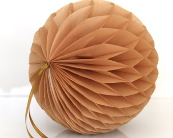 Kraft tissue paper honeycomb ball -  hanging wedding party decorations - 35cm | 30cm | 25cm | 20cm | 15cm  |10cm