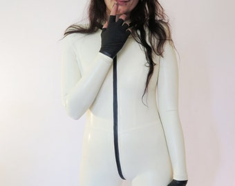 Latex Catsuit Low Collar