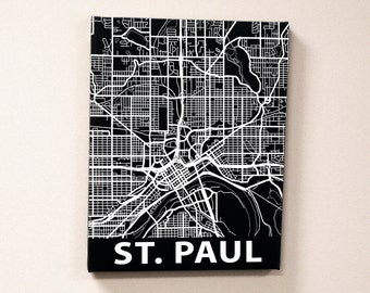 St Paul Minnesota State Art Street Map Canvas Print