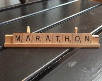 Marathon Scrabble Tile Photo Holder