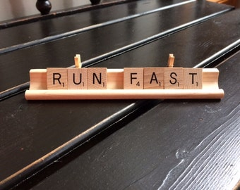 Run Fast Scrabble Tile Photo Holder