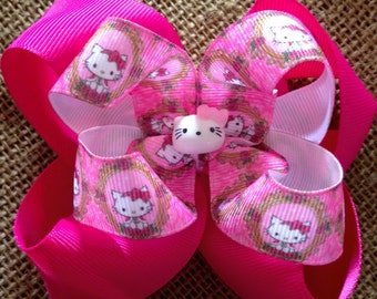 Hello Kitty Stacked Boutique Hairbow.