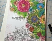 kcdoodleart collection - intricate flower designs - signed if you want it signed