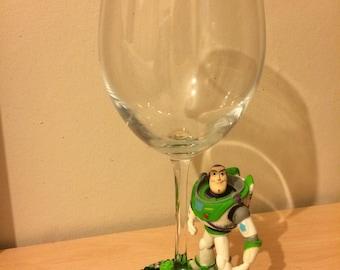Disney Toy Story Buzz Lightyear Sparkle Glitter Wine Glass