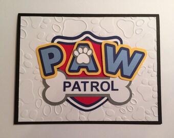 Handmade Paw Patrol Birthday Card
