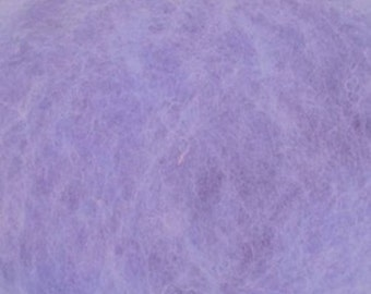 Carded Maori New Zealand Wool for Needle and Wet Felting - Lavender