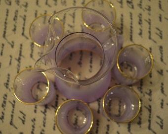 Blendo Lemonade Set --Pitcher and Six Glasses--Lavender