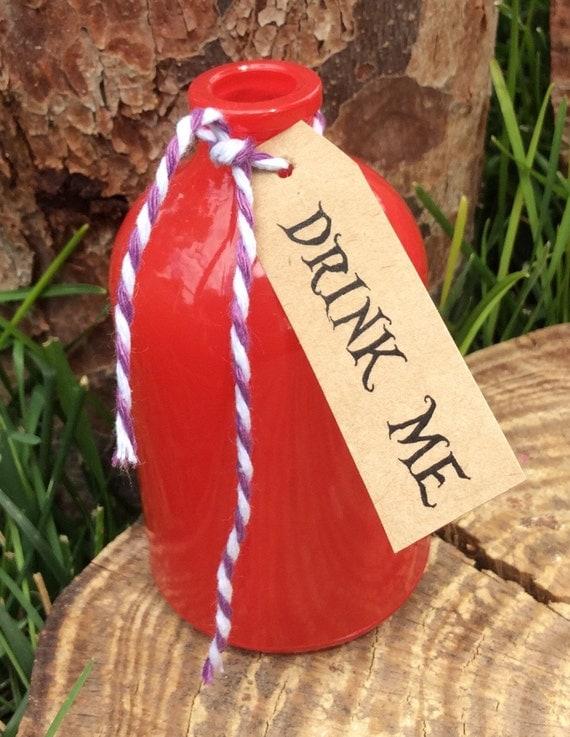 Alice in wonderland drink me bottles decor decorations tea for Decor drink bottle