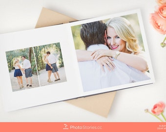 InDesign Album Template - Wedding, Newborn, Portrait, Engagement, and Fine Art Photo Books - B-Squared by Photo Stories
