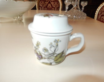 FRANCE PILLIVUYT TEACUP with Strainer and Lid