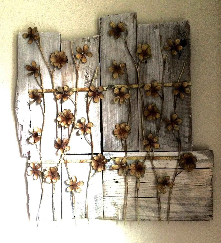 Reclaimed Barn Wood & Metal Wall Art by CherryHillDesignCo ...