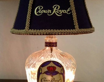 Up Cycled Crown Royal Lamp