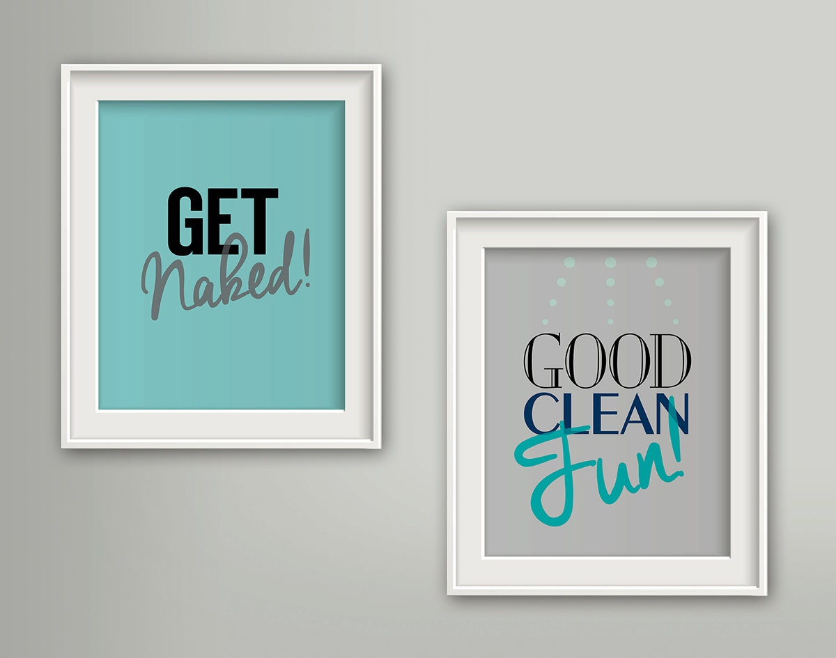 get naked bathroom wall art set of 2 prints decor