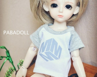 Grey T shirt for 1/8 1/6 Yosd 1/4 Msd 1/3 SD16 SD17 Uncle IP EID Bjd Doll Clothes Customized