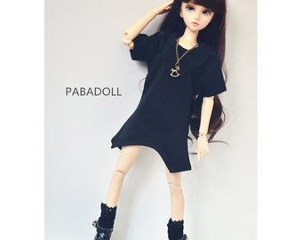 Irregular Long T shirt for 1/6 Yosd 1/4 Msd 1/3 SD16 DD SDgr IP EID Bjd Doll Clothes Customized