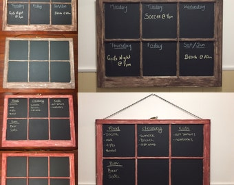 Antique chalkboard windows