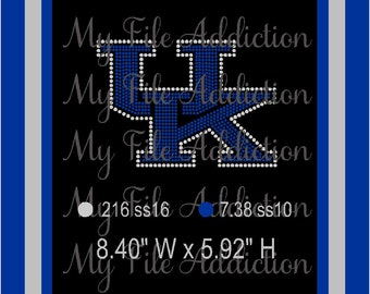Instant Download Rhinestone SVG EPS Design File University of Kentucky UK