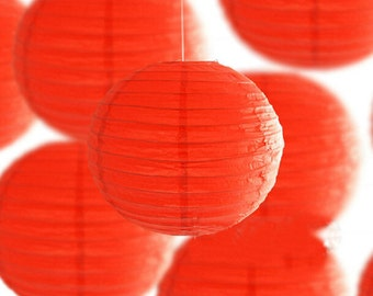 12 Pack Mixed Sizes Red Paper Lantern Lampshade for Christmas Outdoor Wedding Birthday Party Hanging Decoration