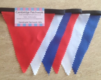 "Handmade Royal ""Red, White and Blue"" Bunting - Royal events, Street parties,"