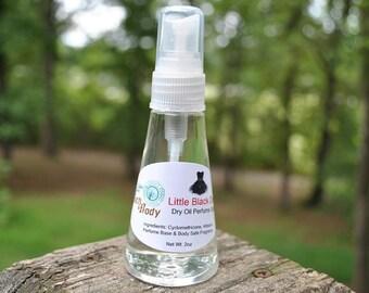 Little Black Dress Dry Oil Perfume Spray from the Alder Moon Bath & Body product line