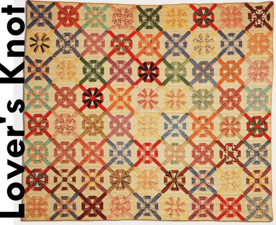 Quilting Pattern Lovers Knot : Lovers Knot Quilt Pattern Quilting Pattern Retro Quilt