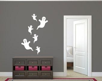 Ghosts Decal Halloween Set of Ghosts Vinyl Wall Sticker