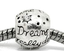 Dreams really do come true European Big Hole Bead Charm fits Pandora Bracelets