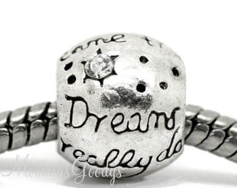 Dreams really do come true European Big Hole Bead Charm